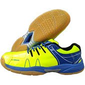 Thrax MX 01 Badminton Shoe Lime and Blue