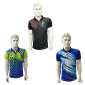 Trio Pack of Thrax Polo Badminton T Shirt Size Medium