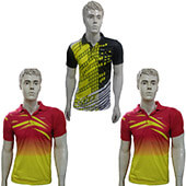 Trio Pack of Thrax Polo Badminton T Shirt Model 1 Size Medium