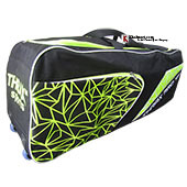 Thrax Pro 101 Cricket Kitbag colour Black and lime
