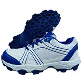 Thrax Achiever Stud Cricket Shoes White and Blue