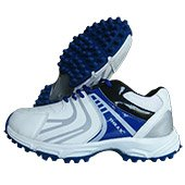 Thrax Revo Cricket Shoes White and Blue