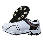 Thrax Spike X Force Cricket Shoes White and Red