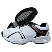 Thrax X Force Stud Cricket Shoes White and Black
