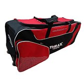 Thrax Elite Series Wheel Cricket Kitbag Black and Red