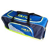Thrax Easy Pack Wheel Cricket Kit Bag Blue and Lime