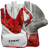 Thrax Max Keep Wicket Keeping Gloves White Red