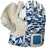 Thrax Professional Cricket Wicket Keeping Gloves Camo Blue