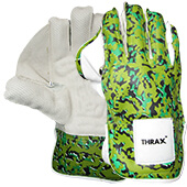 Thrax Professional Cricket Wicket Keeping Gloves Camo Green