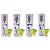 VICKY Jet 10 Nylon Shuttlecocks Yellow color 4 Boxes