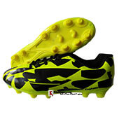 Vicky Captain Football Shoes Black and Parrot Green