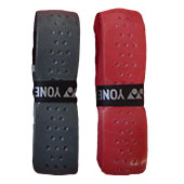 Yonex Leather Grip Badminton 2 Grip Set Red and Gray